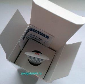 Содержание упаковки крема