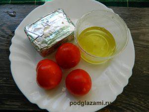 помидоры, дрожжи, масло