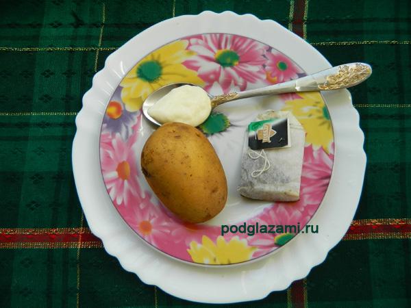 картошка сметана чай