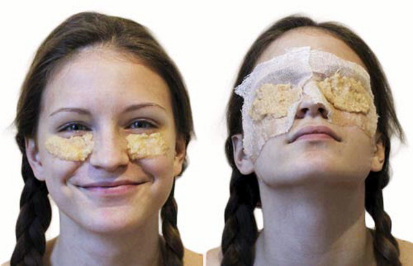 маска яблоко вокруг глаз
