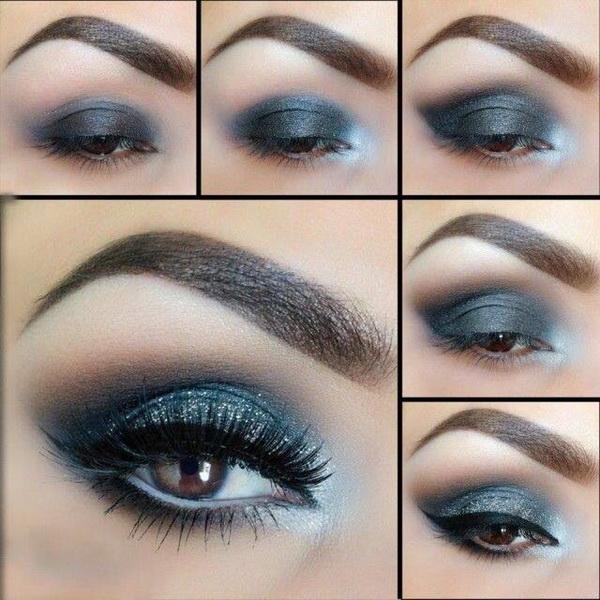 макияж с серыми тенями пошагово