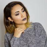 макияж серыми тенями