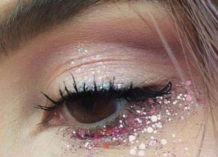 Не бойтесь применять блестки в макияже
